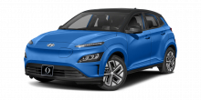 2022 Hyundai Kona EV Blue Wave with Black Roof