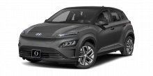 2022 Hyundai Kona EV Galactic Gray with Black Roof