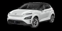 2022 Hyundai Kona EV Lunar White with Black Roof