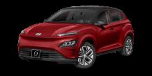 2022 Hyundai Kona EV Pulse Red with Black Roof